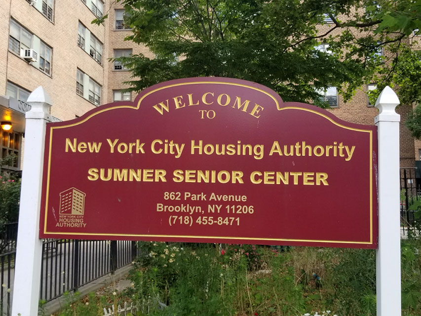 Sumner Housing - Welcome Sign
